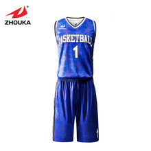 Custom cool basketball uniforms sets professional design kids adult basketball clothes breathable college basketball jerseys(China)