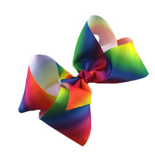 Girls Beauty 1pc Hair Bow Faddish Hair Accessories Modern Rainbow Design New Classical Simple High Quality(China)