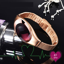 2017 Luxury Smart Band Fashion Style Android IOS with Blood Pressure Heart Rate Monitor Wrist Watch Luxurious Watch Women Gift
