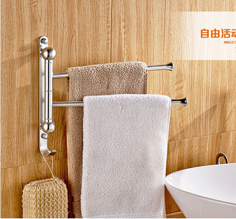 Luxury Aluminum Bathroom Towel Hanger Double Towel Shelf<br><br>Aliexpress