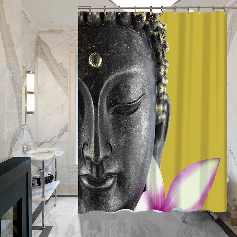Buddha Shower Curtains Waterproof Polyester Fabric Bathroom Curtain With  Hooks Cortina Shower Curtain For Home Decor