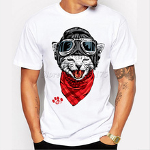 2017 New Arrival The Happy Cat Design Men's Fashion T shirt Cool Tops Short Sleeve Hipster Tees T219