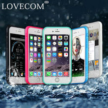 LOVECOM Full Body Protected Waterproof Radiating Phone Case Cover For iPhone 5 5S SE 6 6S 7 7 Plus Shockproof TPU+PC Coque