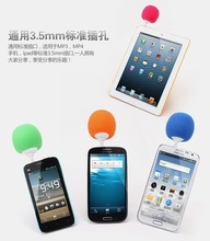 Faster Mini Sponge Ball Speaker Sound with Mic for iPhone iPod iPad S4 3.5mm Audio Jack Cell Phones Mini Speaker