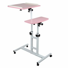 Shellhard Portable Adjustable Laptop Desk Stand Lap Bed Sofa Tray Computer Table Stand Tray Home Furniture Pink