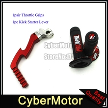 Red Kick Starter Lever Handle Grips For Chinese Dirt Pit Protaper Bike Lifan YX Engine 50cc 90cc 110cc 125cc 140cc 150cc 160cc