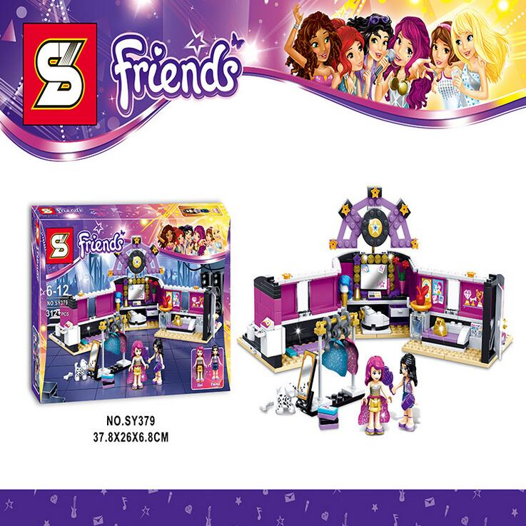 sy379 friends series Pop Star The dressing room 312pcs building blocks bricks toys children gift With Lepin 41104 P749<br><br>Aliexpress