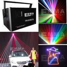 5.5w ilda rgb laser sd and animation programmable laser projector /club lighting/laser lighting display/rgb Lazer Disco(China)