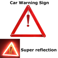 High Strength Car Warnig Sign Maintenance mark Car Van Danger Emergency Triangle PVC Reflective Stripe The Road Caution Sign