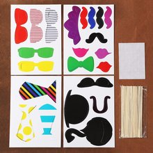 ABWE Best Sale 22 Pcs Colorful Props On A Stick Mustache Photo Booth Fun Party Wedding Christmas Birthday