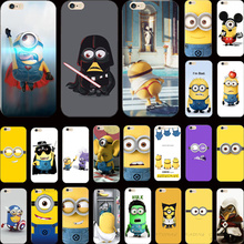 Novel Design Cover Despicable Me Yellow Minion Smile Case For Apple iPhone 4 iPhone 4S iPhone4S Phone Cases Shell Best Choose !!