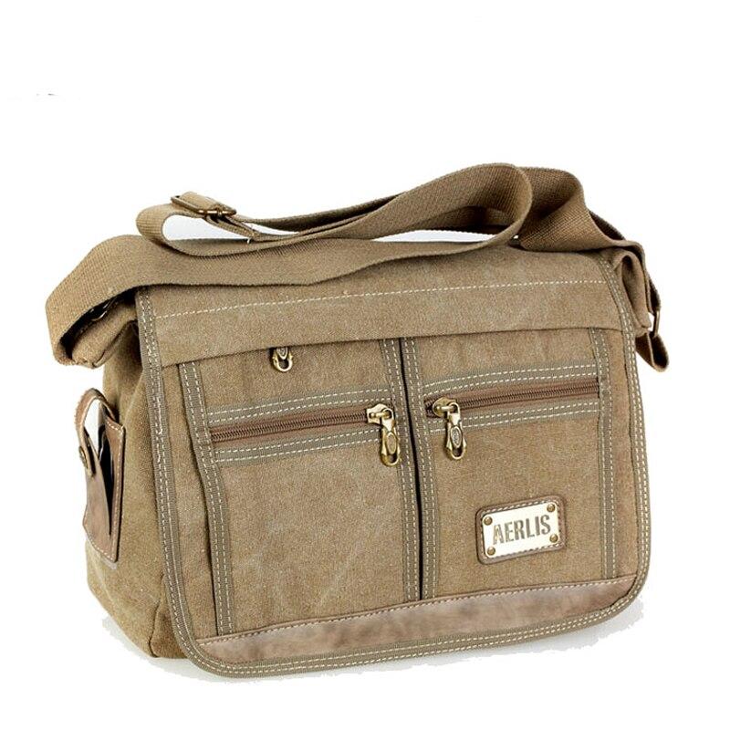 Aerlis Man Canvas Messenger Bag Student School Shoulder Bag For Teenagers Casual Travel cross-body Bolsa Feminina Spots Bags<br><br>Aliexpress
