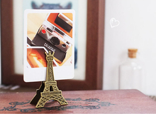 Effiel Tower Paris Metal Memo Paper Clips for Message Decoration Photo Clips Office Supplies Accessories Free shipping