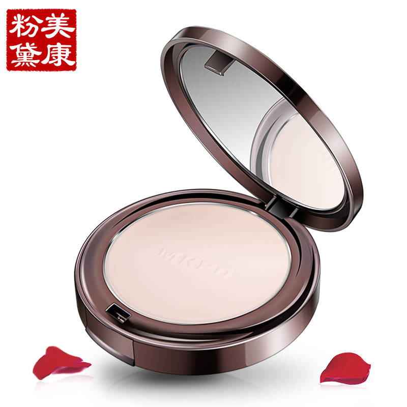 MEIKING Natural Powder Oil Control Lasting Face Finishing Whitening Makeup Brighten Foundation Rose Plant Brighten Powder 2016