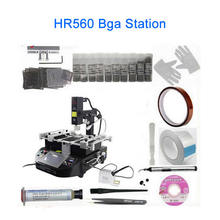 Factory Bga Machine HR560 bga rework station with Laser pointer, touch screen control with full set reballing kit(China)