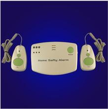 Battery power 433MHZ Home Safety Alarm Pager emergency call button help alarm system elderly/children(a host+2 panic buttons)