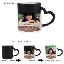 DIY photo magic mug color changing coffee mug custom your photo on tea mug heat changing color transforming  Coffee mug