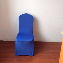 Royal blue 20pcs/lots dining chair covers spandex stretch chair cover manufacturer chair cover hotel/home/party wholesale cheap(China)