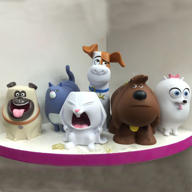 1pcs juguetes Kids The Secret Life Of Pets Toys Max Snowball Buddy Gdget Mel PVC Dragonball Figures Best Gift<br><br>Aliexpress