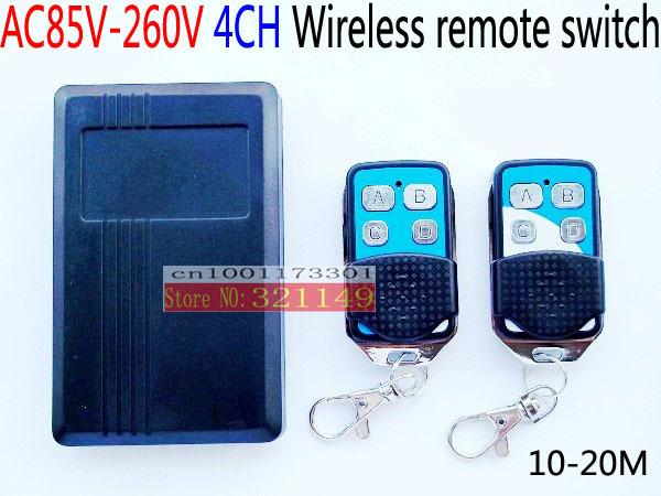 AC85V-260V wireless remote control switch  110v 220v work too 315MHZ RF two transmitter and have s<br><br>Aliexpress