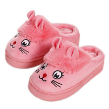 Children Cotton Slippers Home Shoes Kids Girls Cute Indoor Slippers Winter Baby Boys Warm Velvet Home Shoe Fashion Slippers