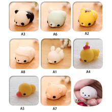 Cute Animals Mochi Squishy Panda Chicken Duck Sheep Pig Rabbit Tiger Soft Home Decor Figurines Squeeze Stretchy Kids Toy P25