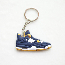 Mini Silicone Jordan 4 Keychain Bag Charm Woman Men Kids Key Ring Gifts Sneaker Key Holder Pendant Accessories Shoes Key Chain