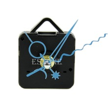 Free Shipping Blue Hands DIY Quartz Black Wall Clock Spindle Movement Mechanism Repair Parts