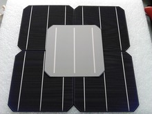 10 Pcs 4.8W 0.5V 20% Effciency Grade A 156 * 156MM Photovoltaic Mono Monocrystalline Silicon Solar Cell 6x6 For Solar Panel