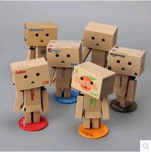 2018 japanese 10 Style anime New Lovely Danboard PVC Action Figure Danbo Doll Mini 8cm P Toy with LED light Free Shipping(China)