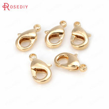20PCS 10MM 12MM 15MM 24K Gold Color Plated Brass Lobster Clasps Connect Clasps High Quality Jewelry Accessories(China)