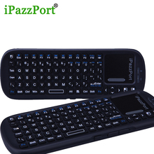 iPazzport 2pc remote control keyboards wireless Bluetooth mini keyboard Air mouse with touchpad for Smart TV PC set top ipad