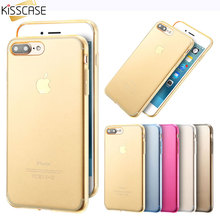 KISSCASE Ultra Thin 0.3mm Transparent Clear Case For iPhone 5 5S 7 8 6 Plus Case Colorful TPU Soft Cover For iPhone 5 5s 8 Case
