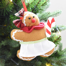 Christmas Gingerbread Man Ornaments Festival Xmas Tree Hanging Decoration Crutches Love Type Christmas Pendant Gift ZQ975811(China)