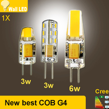 2015 new DC AC 12V g4 COB 12v Led bulb Lamp SMD 3014 3W 5W 6W Replace 10w 30w halogen lamp light 360 Beam Angle luz lampada led