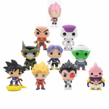 Dragon Ball and Dragon Ball super  Anime Pink Son Goku Piccolo Frieza Cell Vegeta Buu Krillin Vinyl Trunks Action Figure