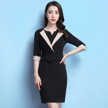 Buy 2018 New Arrival Spring Summer Women Elegant Business Formal Office Work Wear Half Sleeve Knee Mini V-neck Dress for $29.98 in AliExpress store