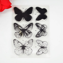 Eco-friendly Transparent Stamp Solid block butterflies For DIY Scrapbooking/Card Making/ Decoration Supplies