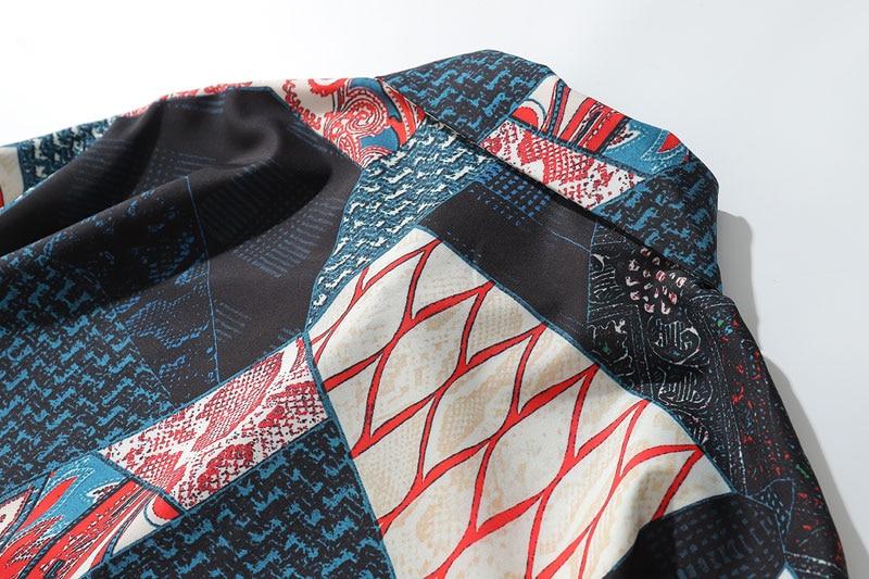 Ukiyo E Geometry Patchwork Shirts 6