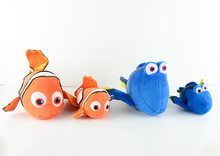 Free Shipping 2pcs Original Finding Nemo plush toys, 30cm Nemo and 30cm Dory Fish Stuffed Soft Plush Toy for Birthday gift