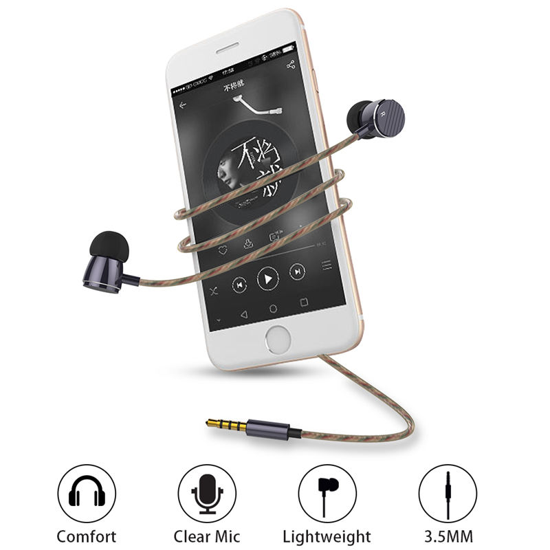 Langsdom A8 In-Ear Earphone for Phone Headset with Microphone 3.5mm HD HiFi Earphones Monitor Bass Stereo Earbuds fone de ouvido