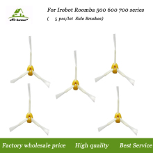 Aihome 5pcs/lot 3-armed Side Brushes for iRobot Roomba 500 600 700 Series 550 560 630 650 760 Vacuum Cleaner Accessories Parts