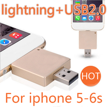 2017 Newest 2in1 USB Flash Drive For IPhone IPad, Android Phone, Computer 2.0 USB Flash Drive 512GB Pen Drive 64GB 128GB Gift