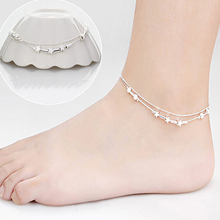 Women 925 Chain Anklet Bracelet Barefoot Sandal Beach Foot Jewelry 7DJZ