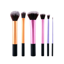 6 Pcs/set Horn Tube Makeup Brushes Set Pro Foundation Loose Powder Contour Eyeshadow Eyeliner Lips Cosmetic Brush Makeup Tools