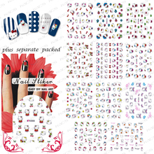 NEW ARRIVAL 20PCS/LOT 3D cat NAIL sticker design,Nail Art Patch Cartoon Series For Fingernail design +Separate Packed