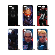 For iPod Touch iPhone 4 4S 5 5S 5C SE 6 6S 7 Plus Samung Galaxy A3 A5 J3 J5 J7 2016 2017 OVERWATCH Soldier Designer Case Cover