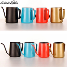 Stainless Steel Coffee Drip Kettle Frothing Jug Tea Pot Kettle Gooseneck Pour Over Coffee Kettle by Coffee Tea tools 250ML