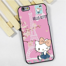Fit for iPhone 4 4s 5 5s 5c se 6 6s 7 plus ipod touch 4 5 6 back skins phone case cover Hello Kitty Paris Love Cute Pink