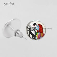SUTEYI 2017 Charms Horrible Earrings Fashion Women Nightmare Stud Earring Halloween Superise Jewlery For Friend(China)